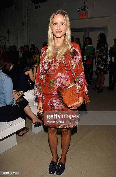 Charlotte Groenveld attends Suno Spring 2016 during New York Fashion Week The Shows at The Gallery Skylight at Clarkson Sq on September 16 2015 in...