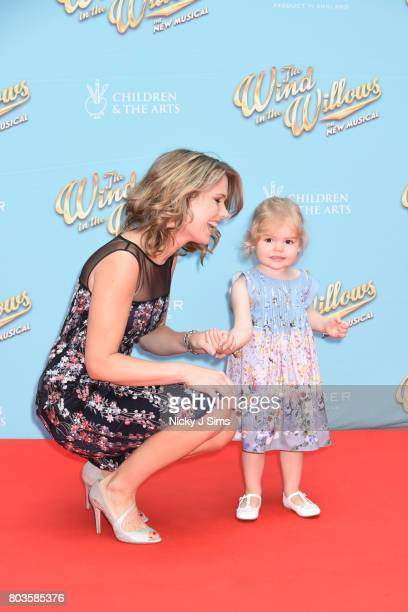 Charlotte Hawkins and her daughter attend the Gala performance of Wind In The Willows at London Palladium on June 29 2017 in London England