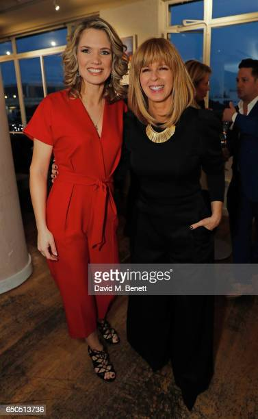 Charlotte Hawkins and Kate Garraway attend the launch of Kate Garraway's new book 'The Joy Of Big Knickers ' at Waterstones Piccadilly on March 9...