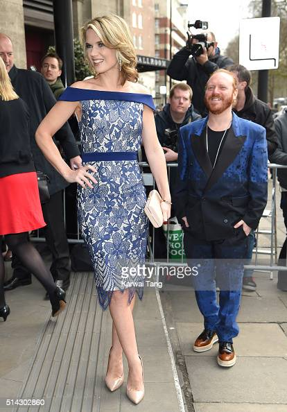 Charlotte Hawkins and Leigh Francis attend the TRIC Awards 2016 at Grosvenor House Hotel at The Grosvenor House Hotel on March 8 2016 in London...