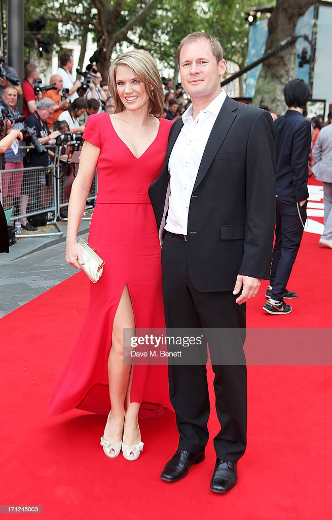 Charlotte Hawkins (L) and Mark Herbert attend the European Premiere of 'Red 2' at the Empire Leicester Square on July 22, 2013 in London, England.