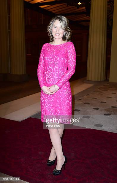 Charlotte Hawkins attending a reception and dinner in support of Motor Neurone Disease Association at Buckingham Palace on March 10 2015 in London...