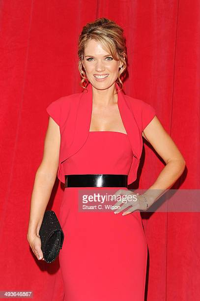 Charlotte Hawkins attends the British Soap Awards at Hackney Empire on May 24 2014 in London England