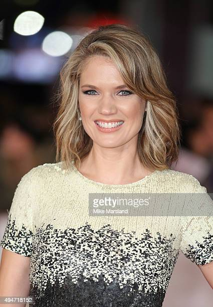 Charlotte Hawkins attends the 'Burnt' European premiere at the Vue West End on October 28 2015 in London England