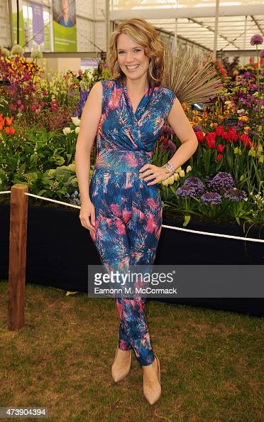 Charlotte Hawkins attends the Chelsea Flower Show at Royal Hospital Chelsea on May 18 2015 in London England