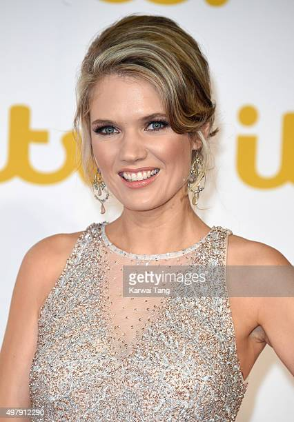 Charlotte Hawkins attends the ITV Gala at London Palladium on November 19 2015 in London England