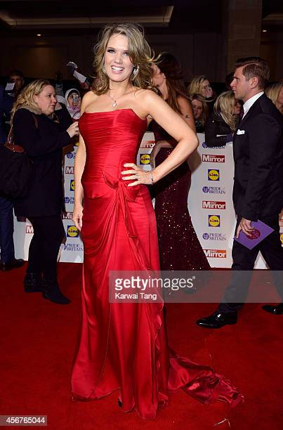 Charlotte Hawkins attends the Pride of Britain awards at The Grosvenor House Hotel on October 6 2014 in London England