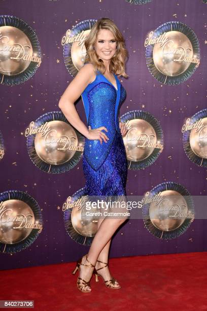 Charlotte Hawkins attends the 'Strictly Come Dancing 2017' red carpet launch at The Piazza on August 28 2017 in London England