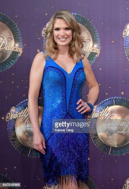 Charlotte Hawkins attends the 'Strictly Come Dancing 2017' red carpet launch at Broadcasting House on August 28 2017 in London England
