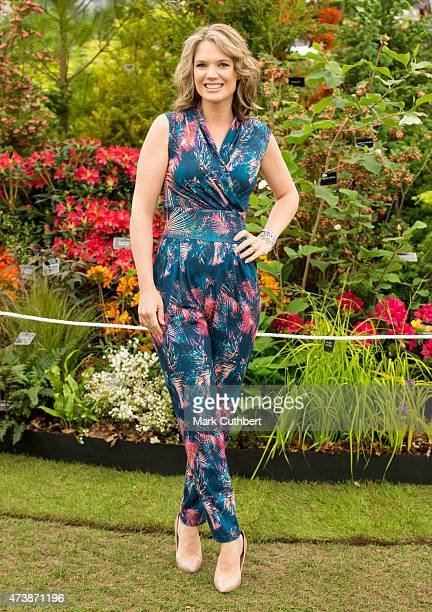 Charlotte Hawkins during the annual Chelsea Flower show at Royal Hospital Chelsea on May 18 2015 in London England