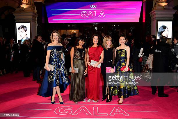 Charlotte Hawkins Ranvir Singh Susanna Reid Kate Garraway and Laura Tobin attending the ITV Gala at the London Palladium
