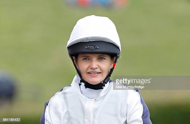 Charlotte Hogg Chief Operating Officer of the Bank of England takes part in the Magnolia Cup charity race on Ladies Day of the Qatar Goodwood...