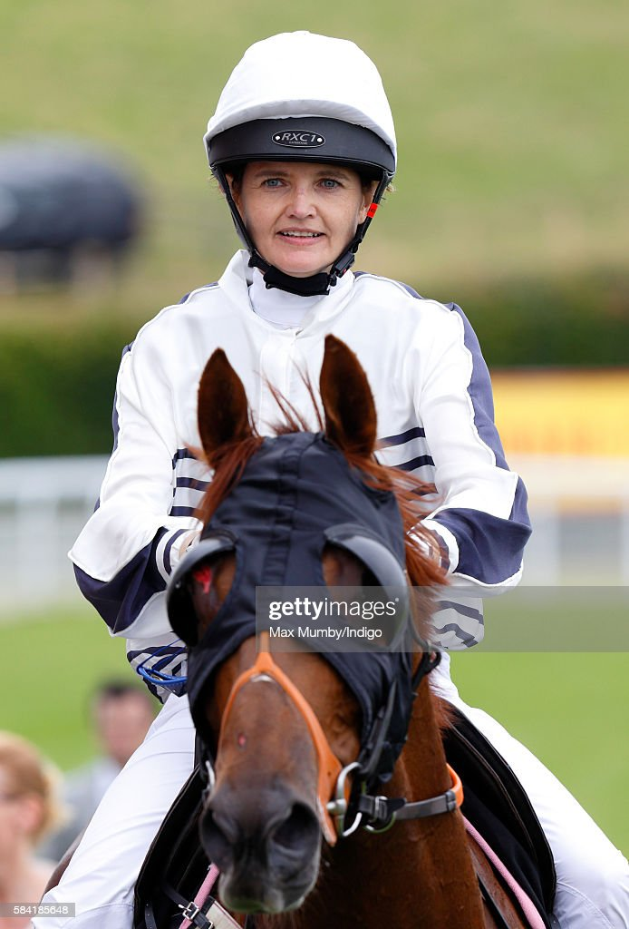 Charlotte Hogg, Chief Operating Officer of the Bank of England, takes part in the Magnolia Cup charity race on Ladies Day of the Qatar Goodwood Festival at Goodwood Racecourse on July 28, 2016 in Chichester, England.