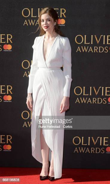 Charlotte Hope attends The Olivier Awards 2017 at Royal Albert Hall on April 09 2017 in London England