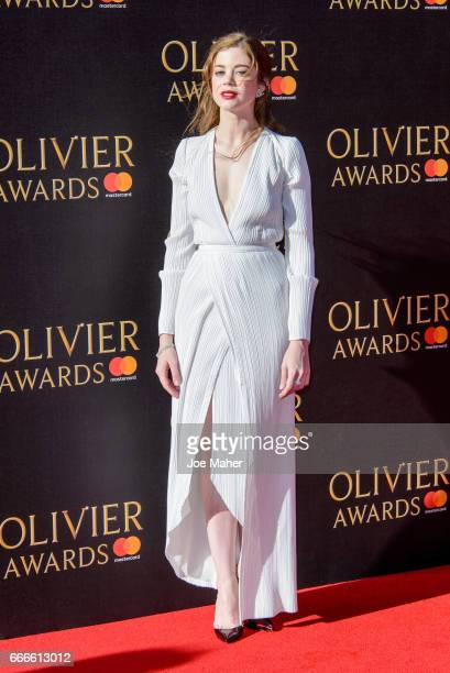Charlotte Hope during The Olivier Awards 2017 at Royal Albert Hall on April 9 2017 in London England