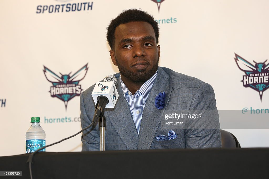 Charlotte Hornets announce their new draft picks of <a gi-track='captionPersonalityLinkClicked' href=/galleries/search?phrase=P.J.+Hairston&family=editorial&specificpeople=7621185 ng-click='$event.stopPropagation()'>P.J. Hairston</a> to the media at Time Warner Cable Arena on June 27, 2014 in Charlotte, North Carolina.
