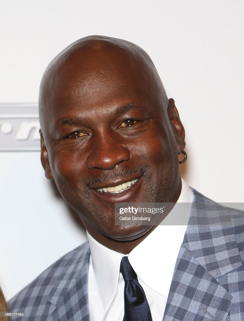Charlotte Hornets owner and former National Basketball Association player <a gi-track='captionPersonalityLinkClicked' href=/galleries/search?phrase=Michael+Jordan+-+Basketball+Player&family=editorial&specificpeople=73625 ng-click='$event.stopPropagation()'>Michael Jordan</a> arrives at the Derek Jeter Celebrity Invitational red carpet event at the Aria Resort & Casino at CityCenter on March 13, 2015 in Las Vegas, Nevada.