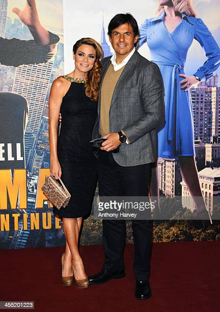 Charlotte Jackson and Chris Coleman attend the UK premiere of 'Anchorman 2 The Legend Continues' at Vue West End on December 11 2013 in London England