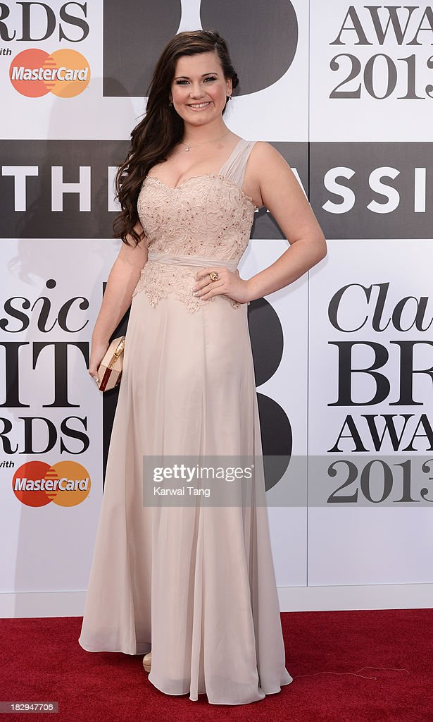 Charlotte Jaconelli attends the Classic BRIT Awards 2013 at Royal Albert Hall on October 2, 2013 in London, England.