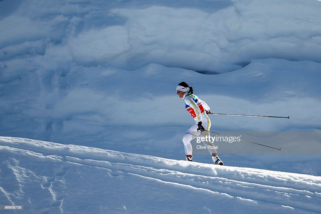<a gi-track='captionPersonalityLinkClicked' href=/galleries/search?phrase=Charlotte+Kalla&family=editorial&specificpeople=4081474 ng-click='$event.stopPropagation()'>Charlotte Kalla</a> of Sweden competes during the cross country skiing ladies team sprint semifinal on day 11 of the 2010 Vancouver Winter Olympics at Whistler Olympic Park Cross-Country Stadium on February 22, 2010 in Whistler, Canada.
