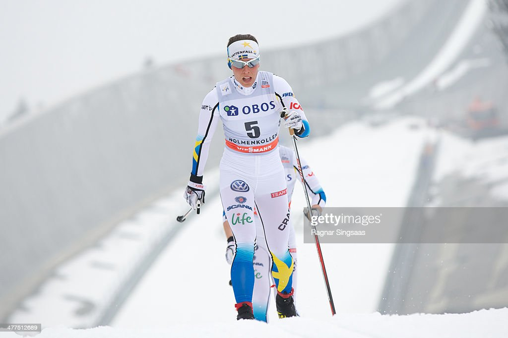 <a gi-track='captionPersonalityLinkClicked' href=/galleries/search?phrase=Charlotte+Kalla&family=editorial&specificpeople=4081474 ng-click='$event.stopPropagation()'>Charlotte Kalla</a> of Sweden competes during the FIS Cross-Country World Cup Ladies 30 km Mass Start Classic on March 9, 2014 in Oslo, Norway.