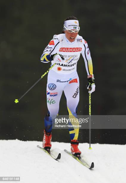 Charlotte Kalla of Sweden competes in the Women's 10km Cross Country during the FIS Nordic World Ski Championships on February 28 2017 in Lahti...