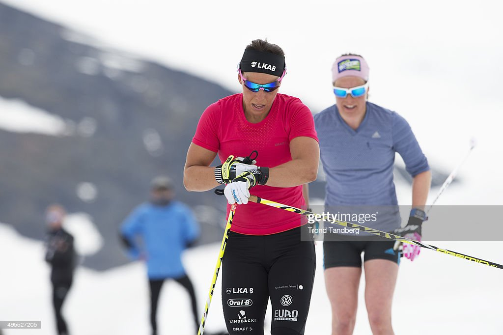 <a gi-track='captionPersonalityLinkClicked' href=/galleries/search?phrase=Charlotte+Kalla&family=editorial&specificpeople=4081474 ng-click='$event.stopPropagation()'>Charlotte Kalla</a> of Sweden during Cross-Country training session at Sognefjellet on June 4, 2014 in Lom, Norway.