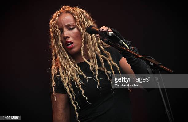 Charlotte Kelly of Soul II Soul performs on stage during BT London Live at Hyde Park on August 6 2012 in London United Kingdom