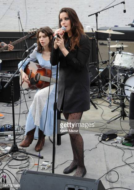 Charlotte Kemp Muhl and Liv Tyler perform during soundcheck for a performance benefitting David Lynch Foundation at Electric Lady Studio on October...