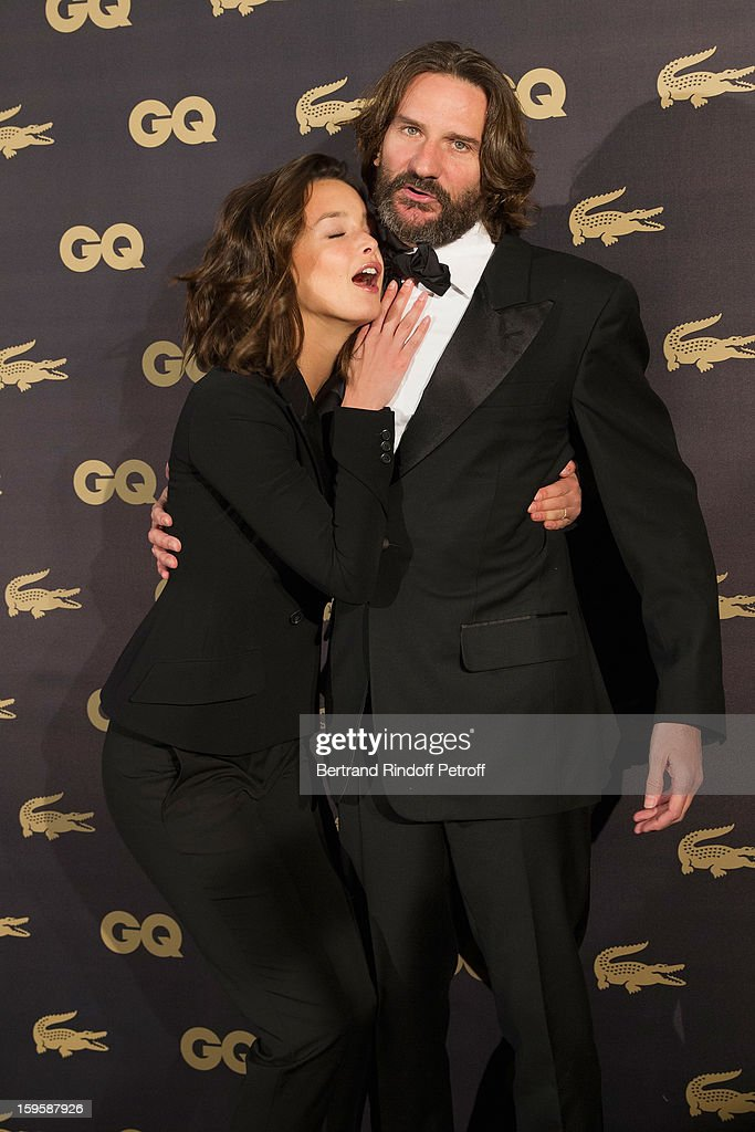 Charlotte Le Bon (L) and Frederic Beigbeder attend the GQ Men of the year awards 2012 at Musee d'Orsay on January 16, 2013 in Paris, France.