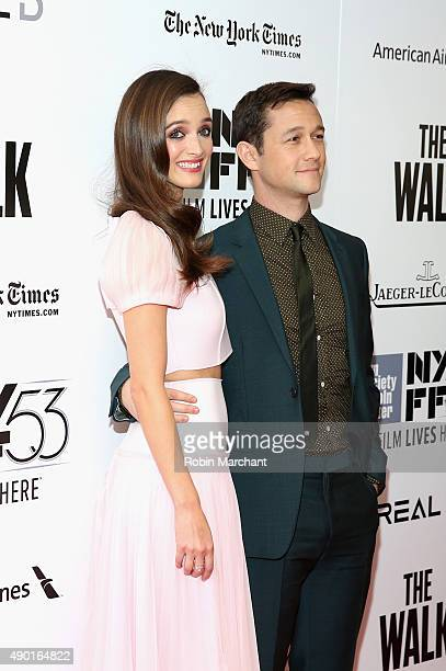 Charlotte Le Bon and Joseph GordonLevitt attend the Opening Night Gala Presentation and 'The Walk' World Premiere during 53rd New York Film Festival...