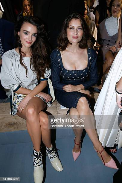 Charlotte Le Bon and Laetitia Casta attend the Christian Dior show as part of the Paris Fashion Week Womenswear Spring/Summer 2017 on September 30...