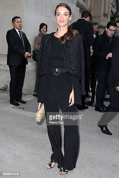 Charlotte Le Bon arrives at the Chanel Haute Couture Spring Summer 2016 show as part of Paris Fashion Week on January 26 2016 in Paris France