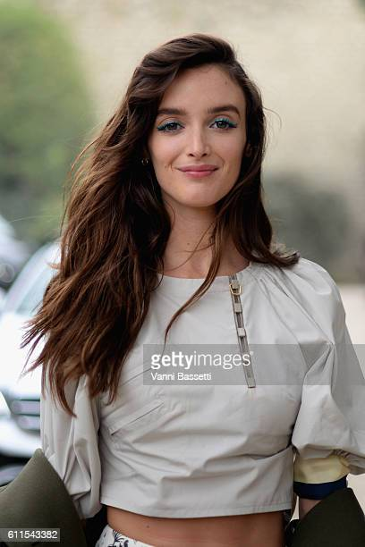 Charlotte Le Bon arrives at the Christian Dior show as part of the Paris Fashion Week Womenswear Spring/Summer 2017 on September 30 2016 in Paris...