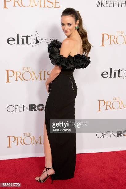 Charlotte Le Bon arrives to the Los Angeles premiere of 'The Promise' at TCL Chinese Theatre on April 12 2017 in Hollywood California