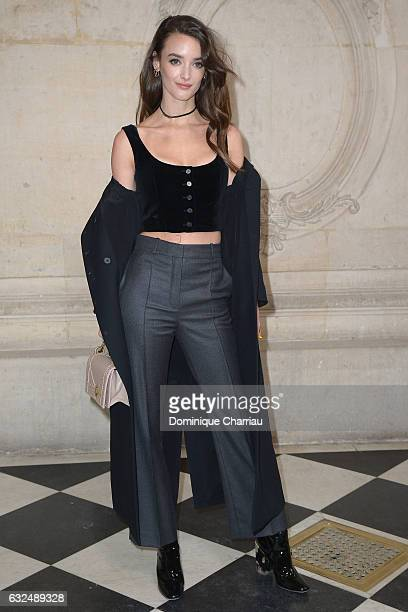Charlotte Le Bon attends the Christian Dior Haute Couture Spring Summer 2017 show as part of Paris Fashion Week on January 23 2017 in Paris France
