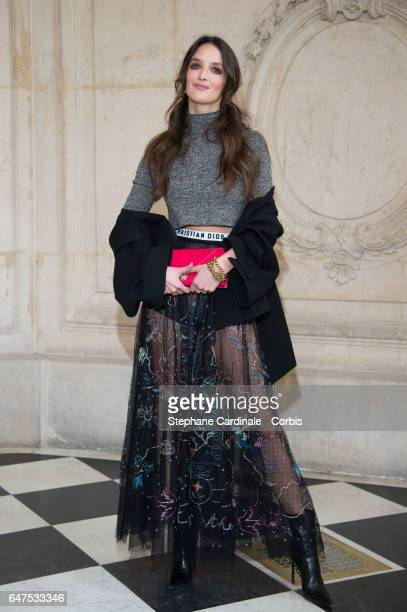 Charlotte Le Bon attends the Christian Dior show as part of the Paris Fashion Week Womenswear Fall/Winter 2017/2018 on March 3 2017 in Paris France