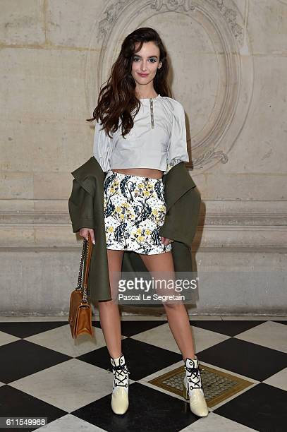 Charlotte Le Bon attends the Christian Dior show of the Paris Fashion Week Womenswear Spring/Summer 2017 on September 30 2016 in Paris France
