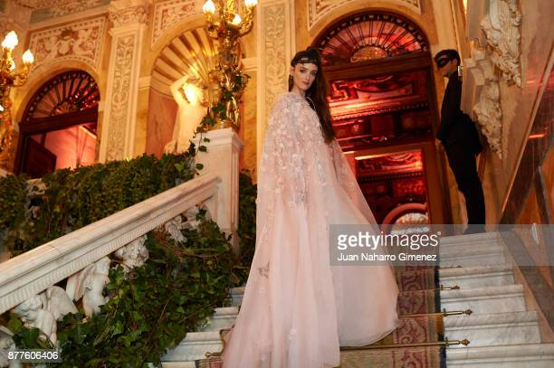 Charlotte Le Bon attends to the Dior Ball party at Santona Palace on November 22 2017 in Madrid Spain