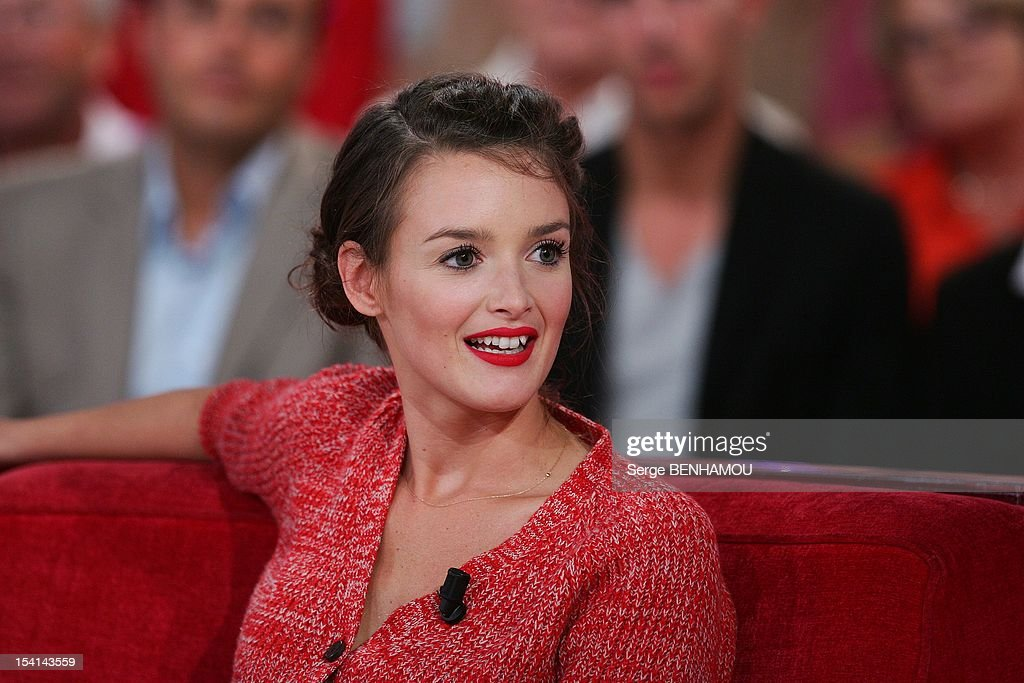 Charlotte Le Bon attends Vivement Dimanche Tv show on October 3, 2012 in Paris, France.