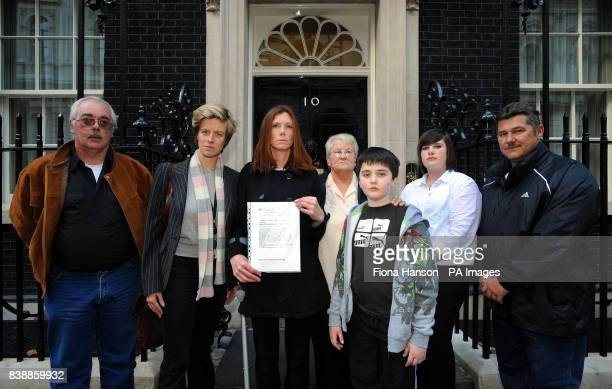 SPECIAL Charlotte Leslie MP accompanies residents of Southmead Bristol to Downing Street London where they handed in a petition as part of protest at...