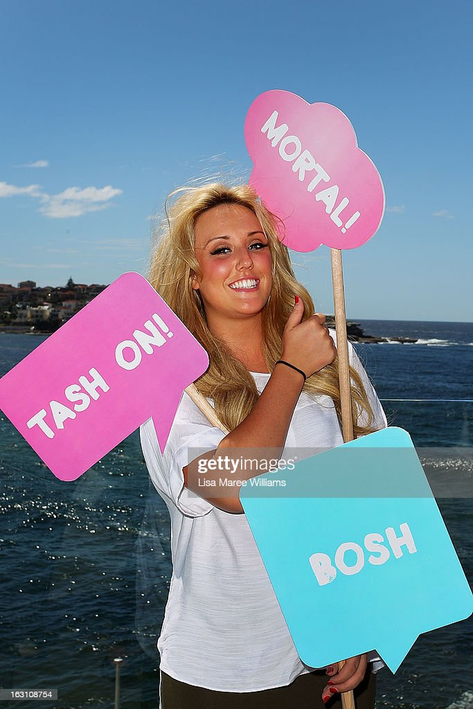 Charlotte Letitia Crosby of UK reality TV series, Geordie Shore, poses for a photo at Bondi Beach on March 5, 2013 in Sydney, Australia.