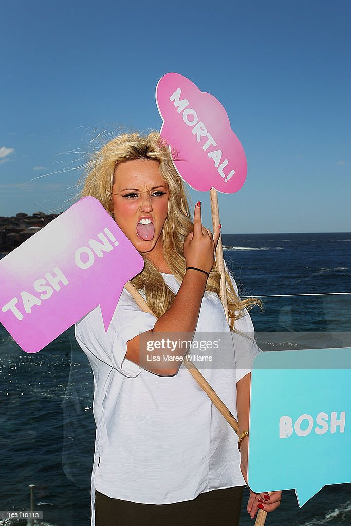 Charlotte Letitia Crosby, of UK reality TV series, Geordie Shore, poses for a photo at Bondi Beach on March 5, 2013 in Sydney, Australia.