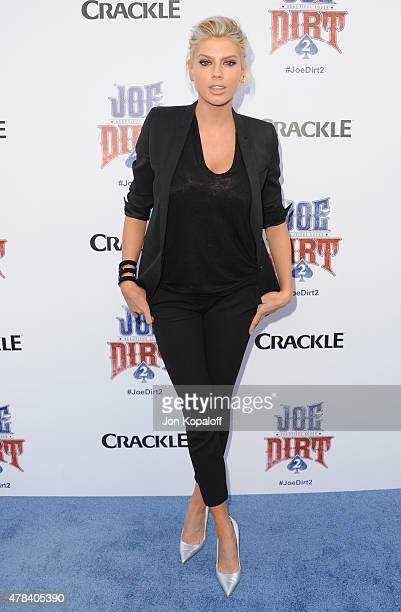 Charlotte McKinney arrives at Crackle Hosts World Premiere Of 'Joe Dirt 2 Beautiful Loser' at Sony Studios on June 24 2015 in Los Angeles California