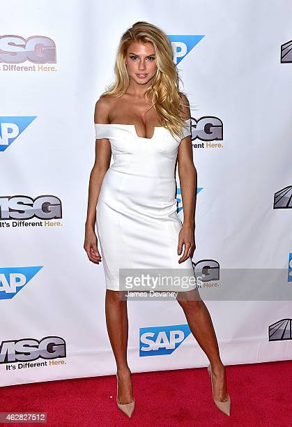 Charlotte McKinney attends MSG Networks Original Programming Party at Madison Square Garden on February 5 2015 in New York City