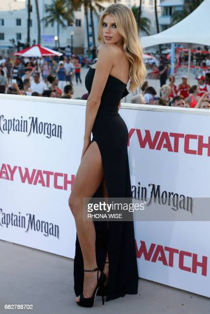 Charlotte McKinney attends Paramount Pictures' World Premiere of 'Baywatch' in Miami Beach Florida on May 13 2017 / AFP PHOTO / RHONA WISE