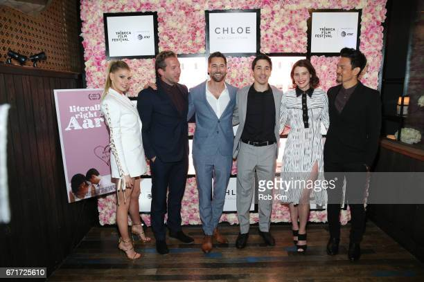 Charlotte McKinney Ryan Hansen Ryan Eggold Justin Long Cobie Smulders and John Cho attend the 2017 Tribeca Film Festival afterparty for 'Literally...