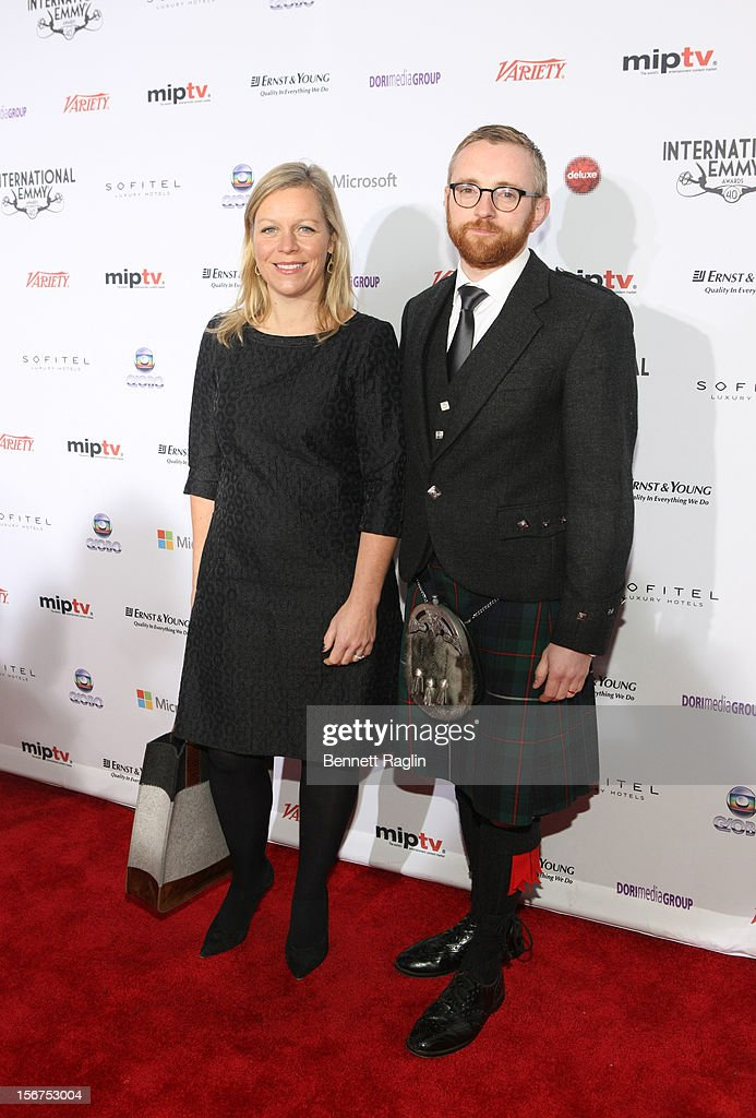 Charlotte Moore and Craig Hunter attend the 40th Annual International Emmy Awards at the Hilton New York on November 19, 2012 in New York City.