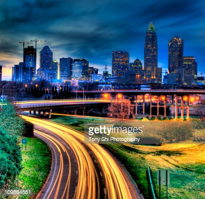 Charlotte, North Carolina at Night, HDR