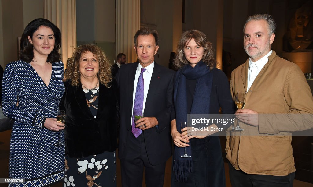 Charlotte Paton, Elyse Dodgson, John Studzinski, Polly Staple and Hadrian Garrard attend the Montblanc de la Culture Arts Patronage Award for the work of the Genesis Foundation at The British Museum on October 12, 2017 in London, England.